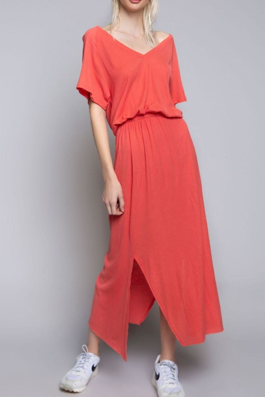 POL Orange Maxi Dress - Main Image