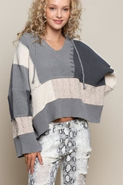 POL Oversize Color-Block Sweater - Front cropped