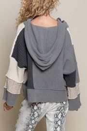 POL Oversize Color-Block Sweater - Back cropped