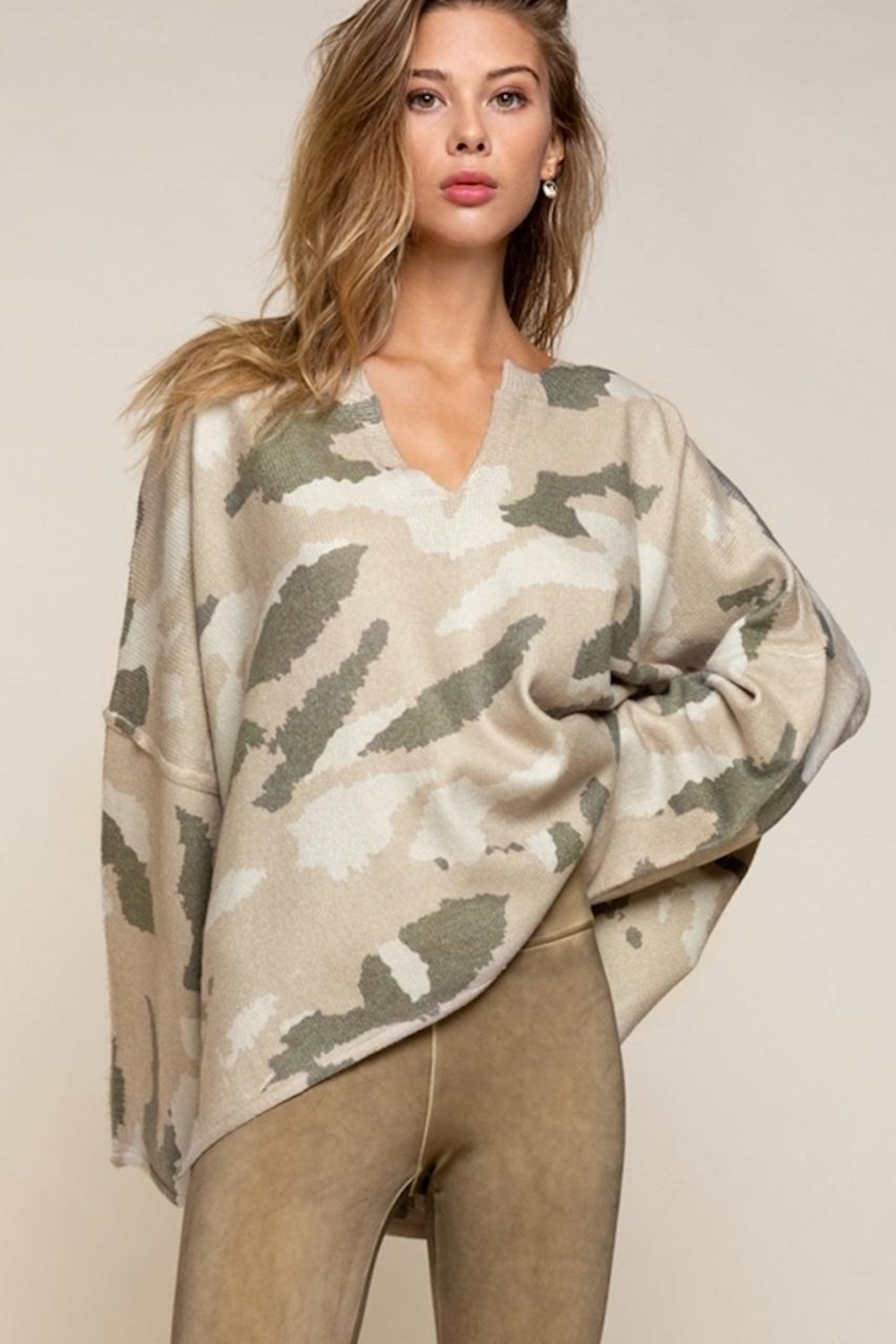 POL Oversized Camouflage Sweater - Main Image