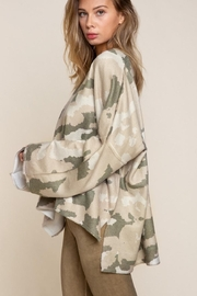 POL Oversized Camouflage Sweater - Front full body