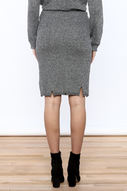 POL Grey Distressed Pencil Skirt - Back cropped