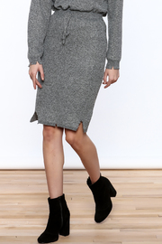 POL Grey Distressed Pencil Skirt - Product Mini Image