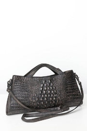 POL Phyton Patterned Leather Shoulder Bag - Product Mini Image