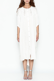 POL Pintuck Button Down Dress - Front full body