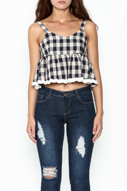 POL Plaid Crop Top - Front full body