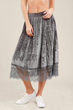 Shoptiques Product: Pleated Velvet Skirt