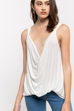 Shoptiques Product: Plunging Twist Tank Top