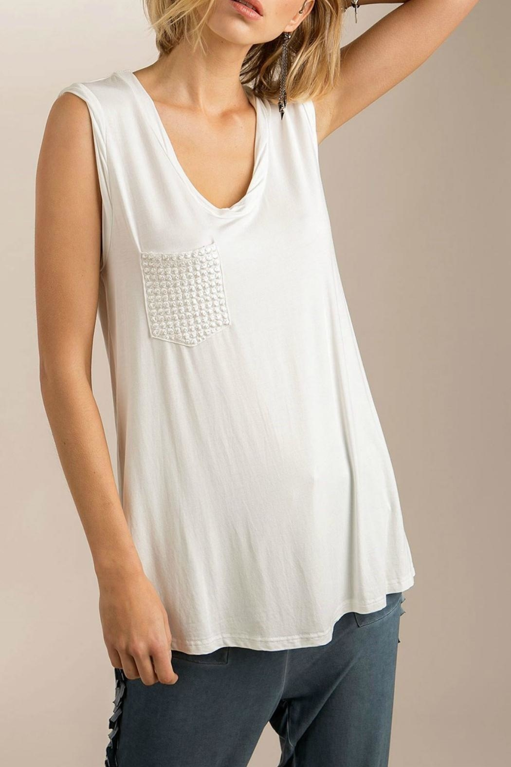 POL Pocket Muscle Tee - Front Cropped Image