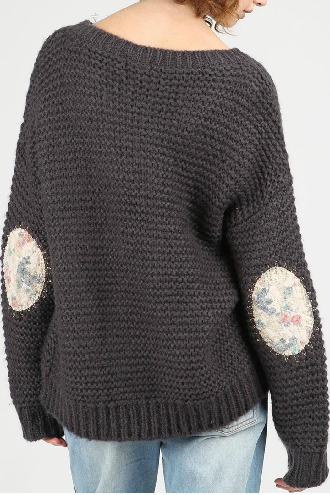 POL Alyssa Pullover Sweater - Back Cropped Image