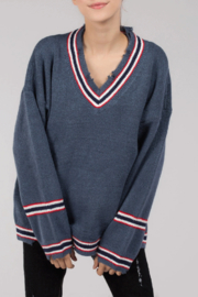 POL Pullover V-Neck Sweater - Product Mini Image