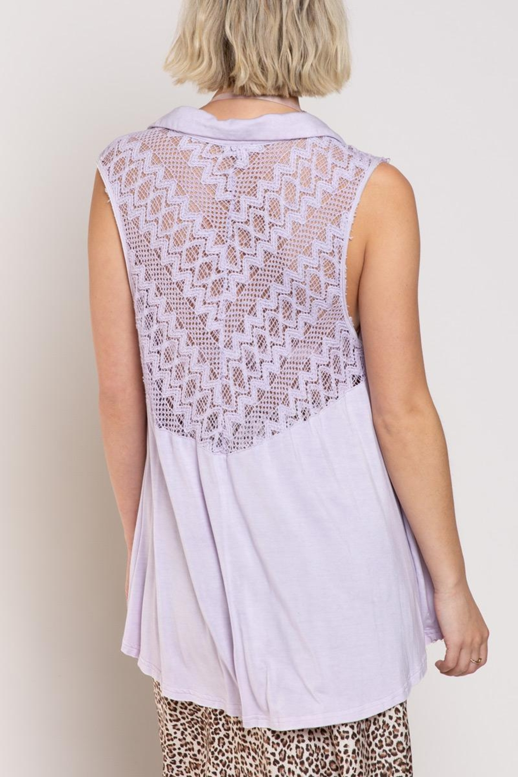 POL Relaxed Sleeveless Woven Top - Side Cropped Image