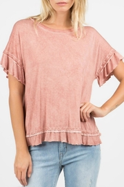POL Ruffle Back Tee - Product Mini Image