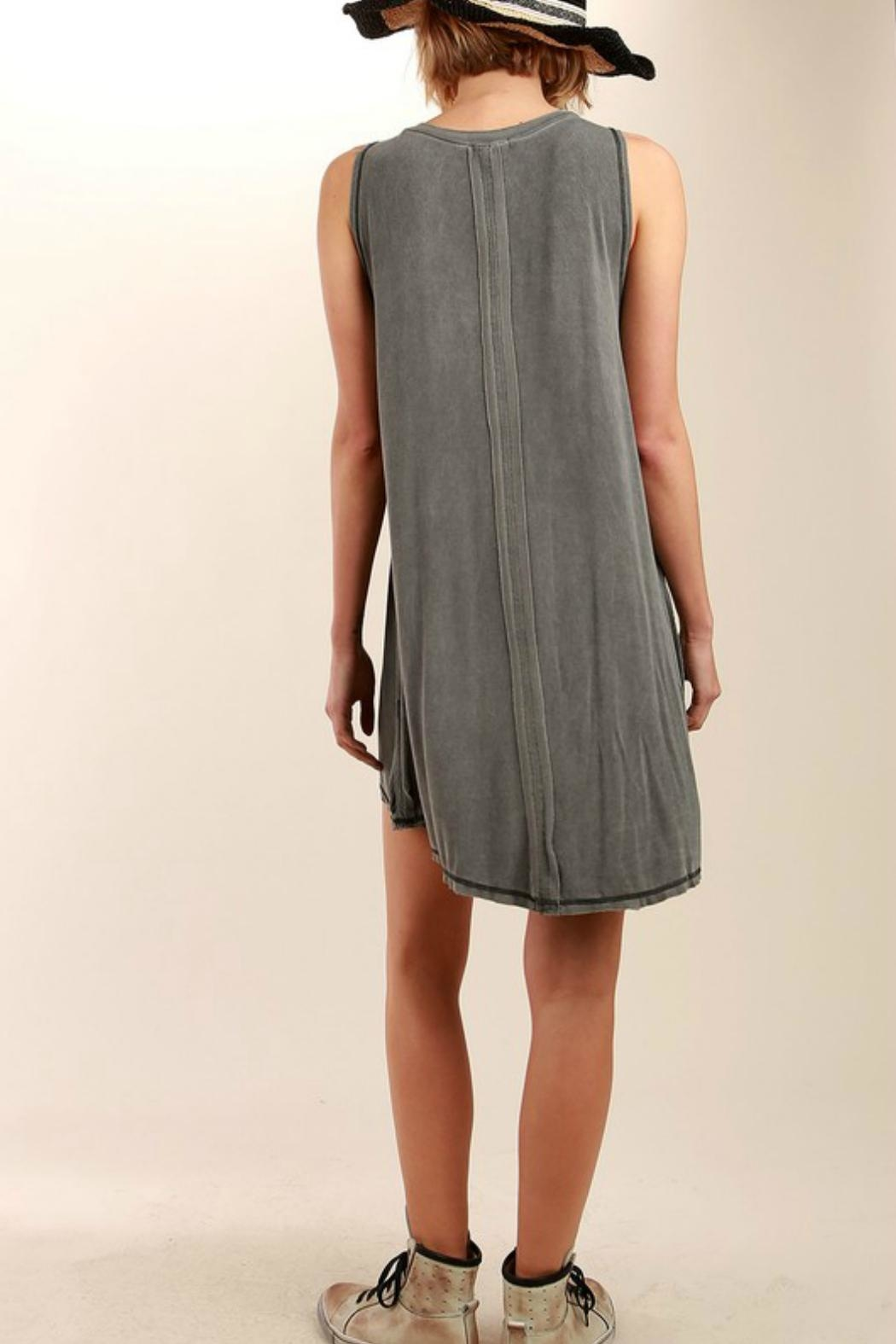 POL Sleeveless Flowing Minidress - Front Full Image