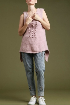 Shoptiques Product: Iza Sleeveless  Pullover Sweater