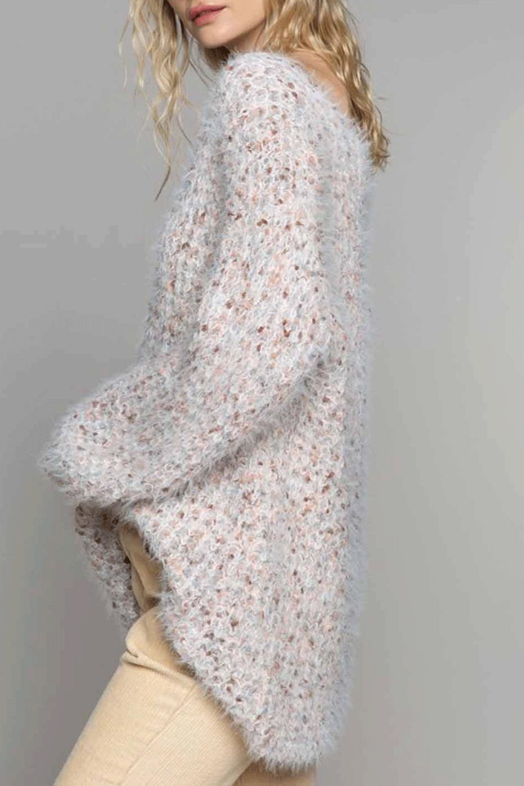 POL Soft Popcorn Sweater - Front Cropped Image