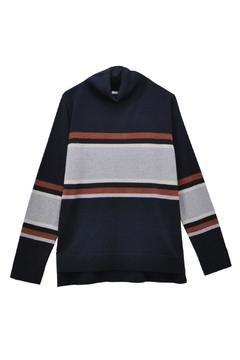Shoptiques Product: Stripe Turtleneck Knit Sweater