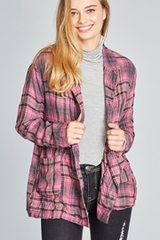 POL Tartan Plaid Double Breasted Jacket - Other