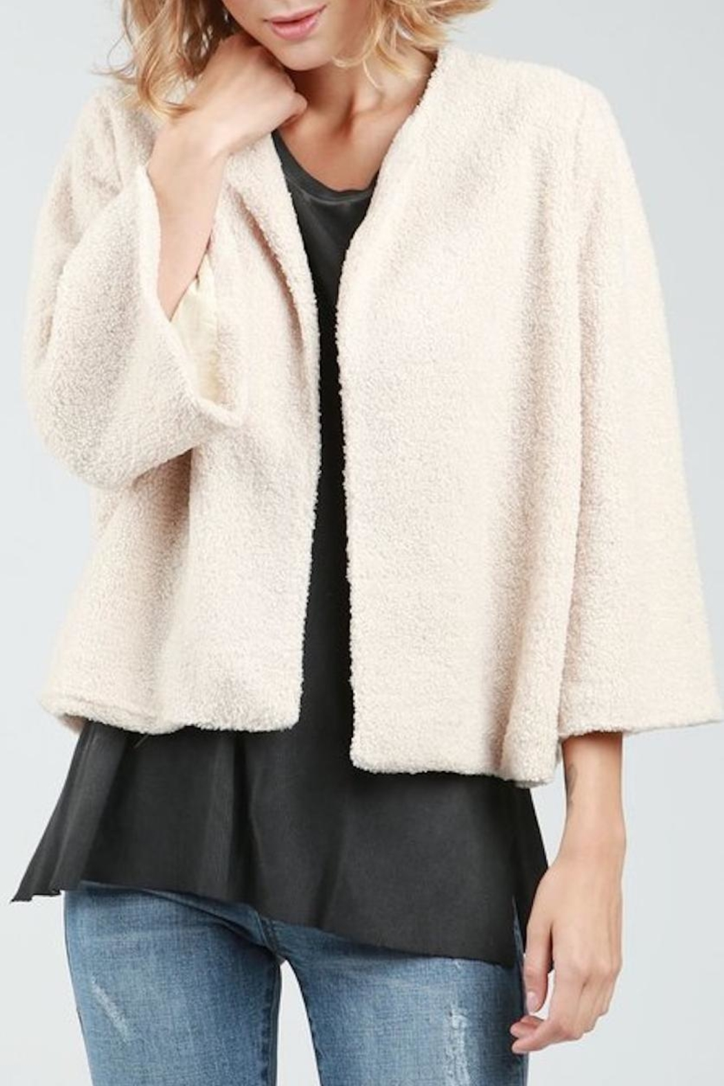 POL Teddy Crop Jacket - Front Cropped Image