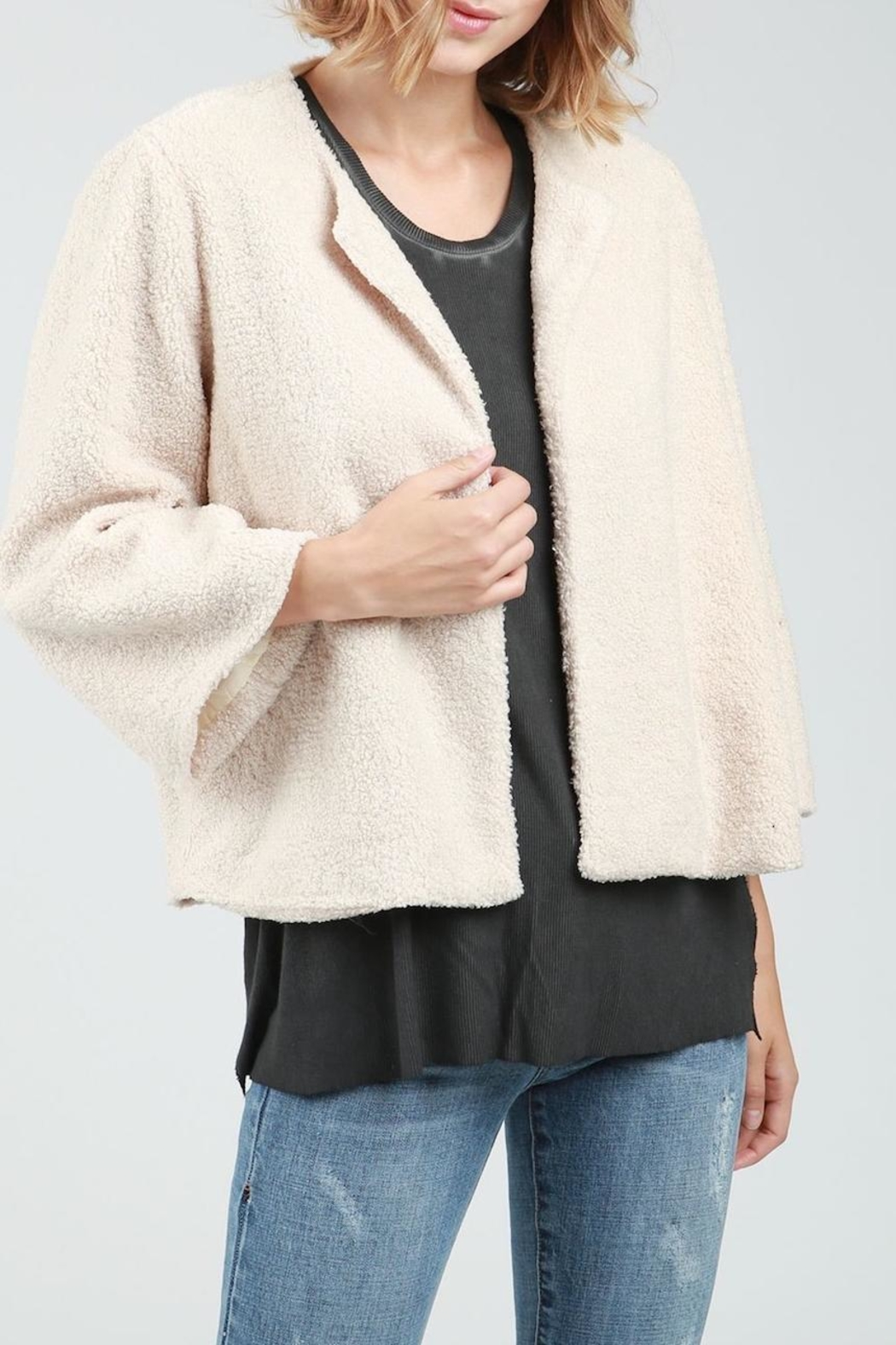POL Teddy Crop Jacket - Front Full Image
