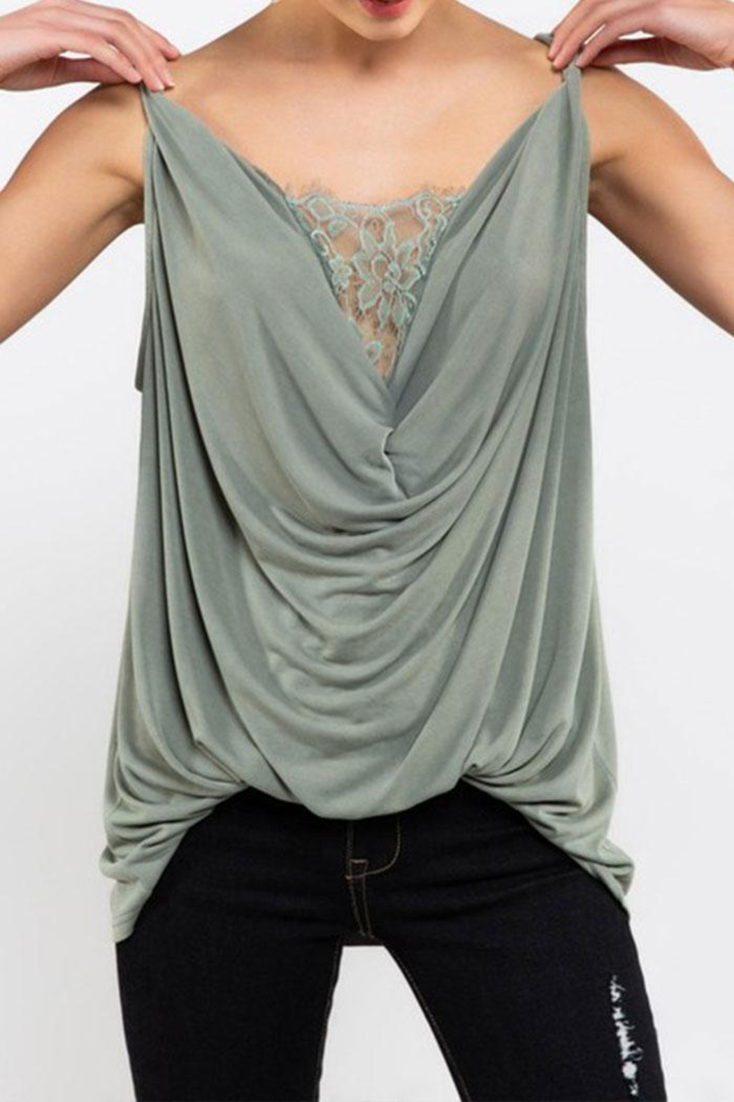 POL Twisted Sleeveless Top - Front Full Image