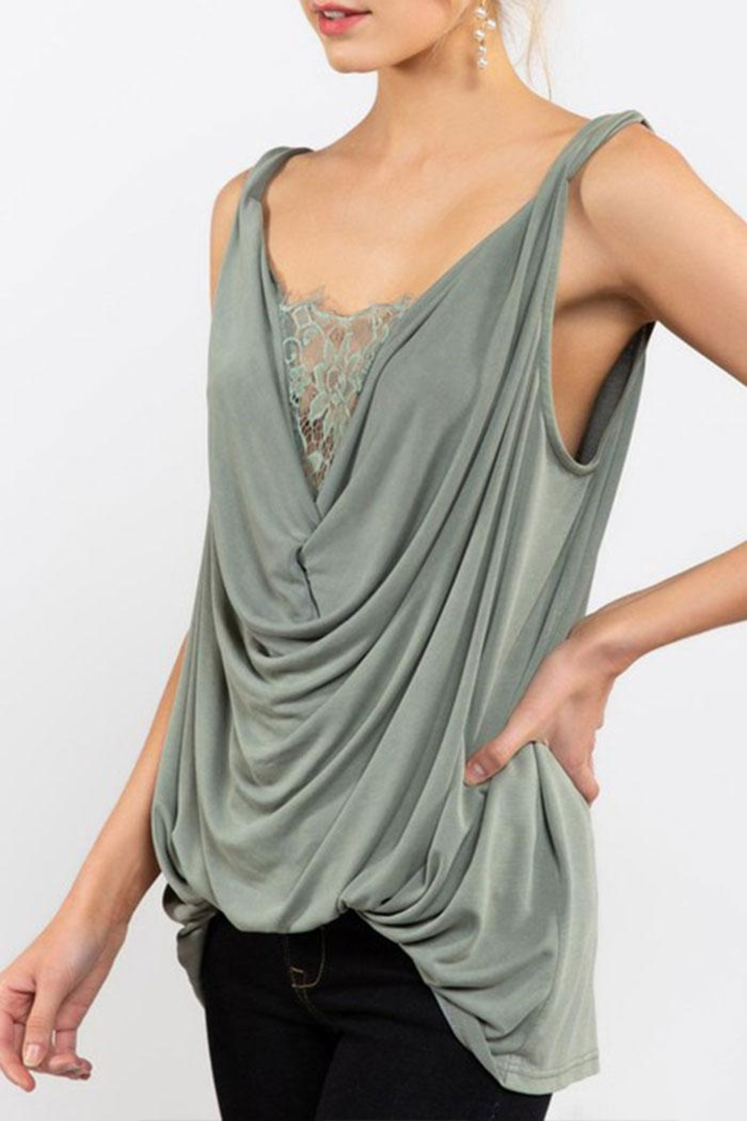 POL Twisted Sleeveless Top - Front Cropped Image