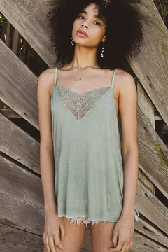 POL V-Camisole Tank With Front Lace Detail - Product List Image