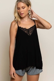 POL V-Camisole Tank With Front Lace Detail - Product Mini Image