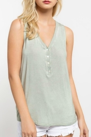 POL V-Neck Henley Top - Product Mini Image