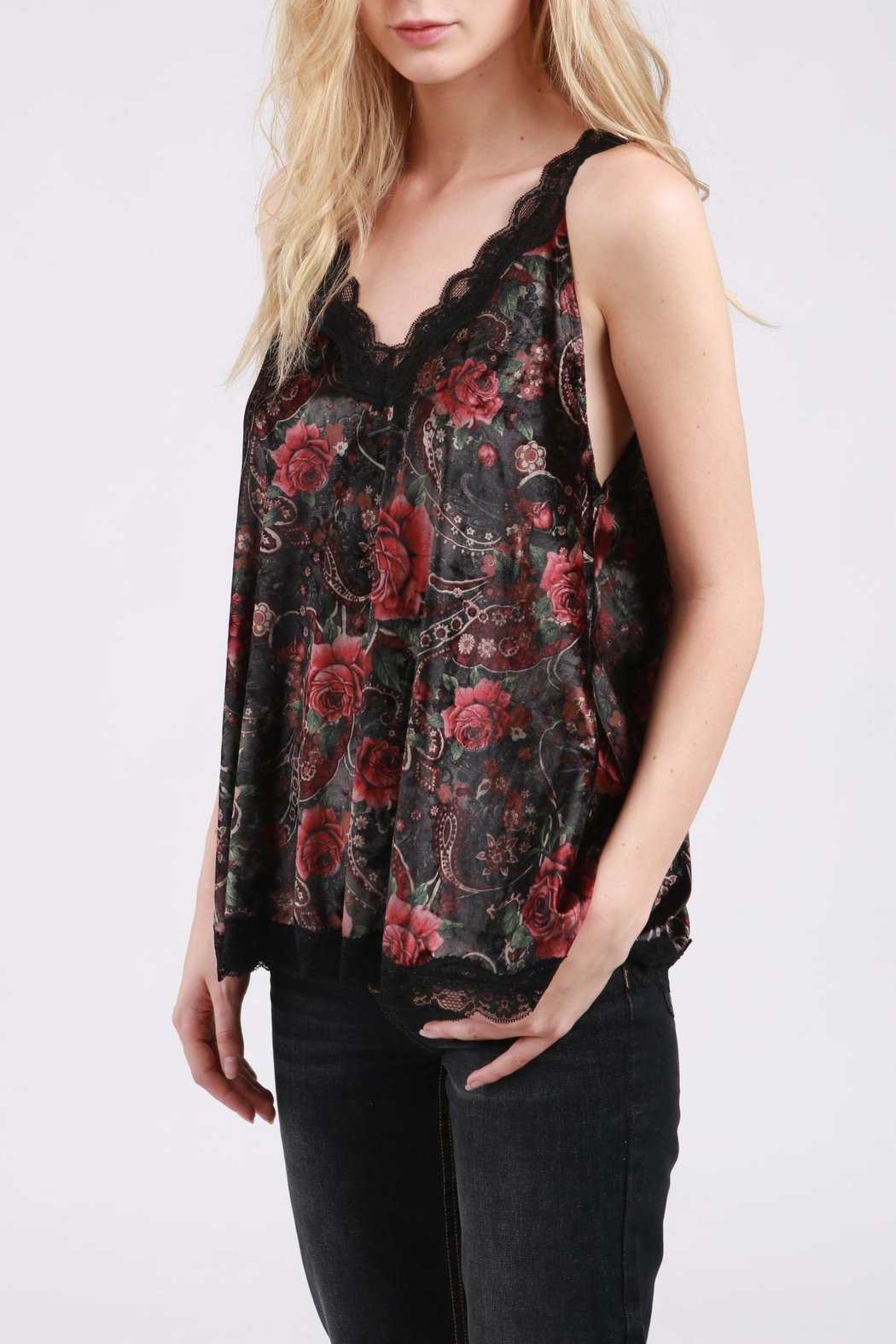 POL Velvet Swing Tank Top - Main Image