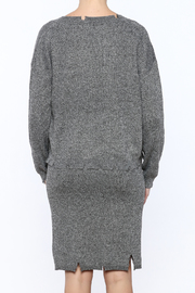 POL Waist Length Distressed Sweater - Back cropped
