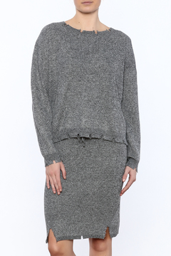 Shoptiques Product: Waist Length Distressed Sweater