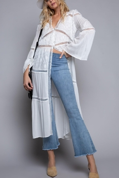 POL White Summer Duster-Cardigan - Product List Image