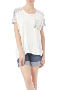 Shoptiques Product: White Tee With Sequins