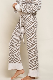 POL Zebra Berber Lounge Pants - Front full body