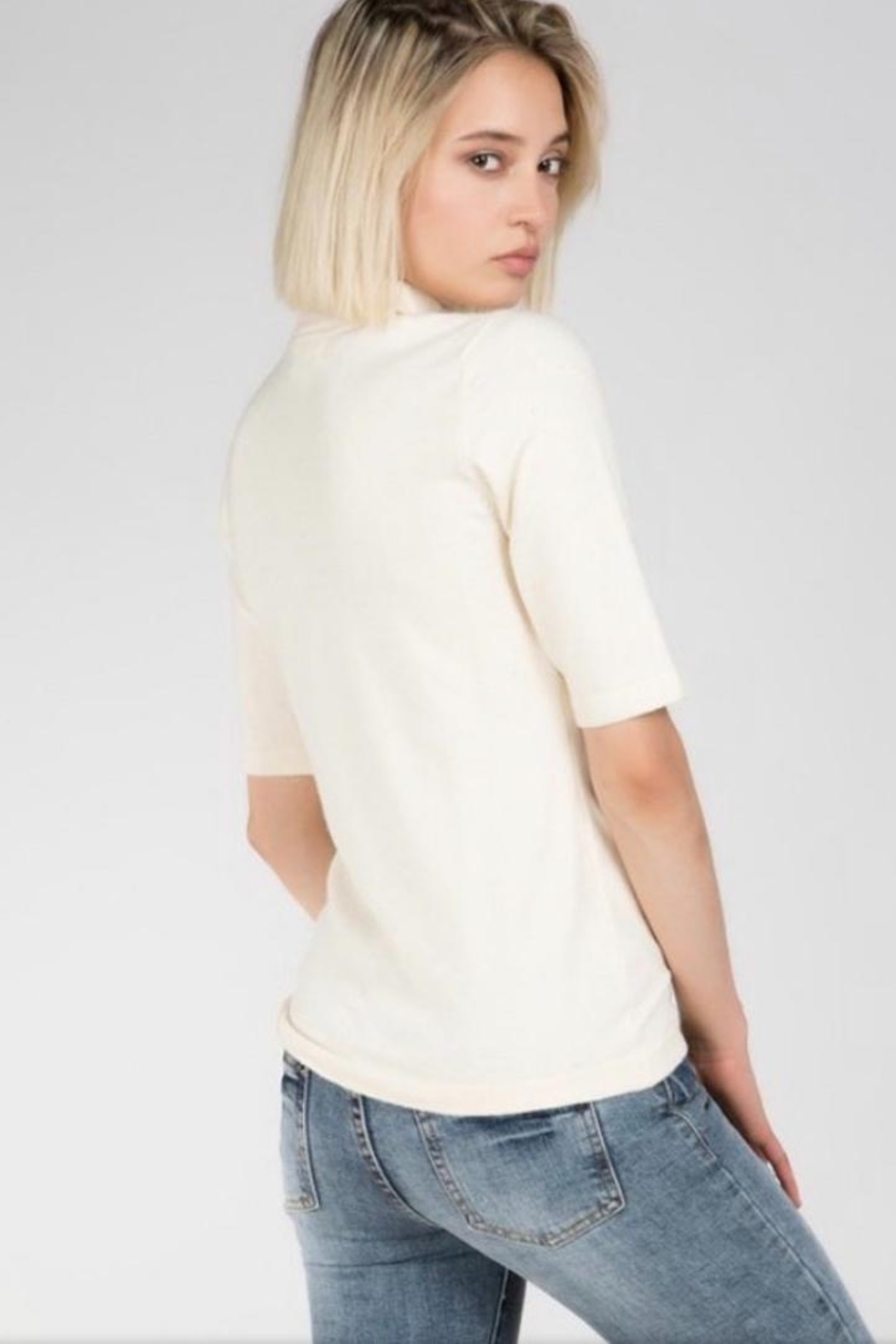 POL Zip Up Sweater - Front Full Image