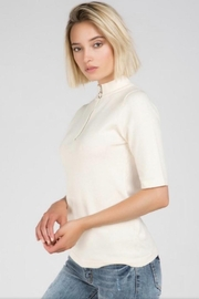 POL Zip Up Sweater - Front cropped