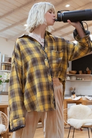 Pol clothing Button Down Oversize Shirt Top - Back cropped