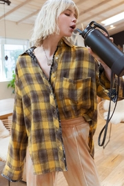 Pol clothing Button Down Oversize Shirt Top - Side cropped