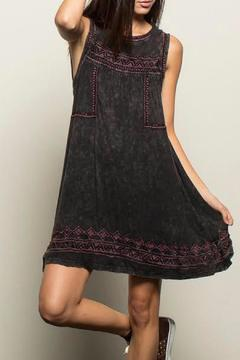 Shoptiques Product: Embroidered Smock Dress