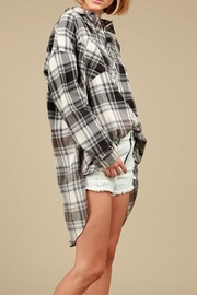 Pol clothing Gray Plaid Shirt - Front cropped