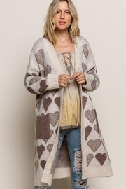 Pol clothing Long Sleeve Cable Knit Long Cardigan - Front cropped