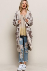 Pol clothing Long Sleeve Cable Knit Long Cardigan - Other