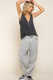 Pol clothing Plunging Twist Tank Top - Back cropped