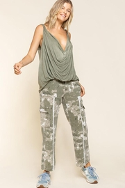 Pol clothing Plunging Twist Tank Top - Other