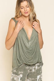 Pol clothing Plunging Twist Tank Top - Front cropped