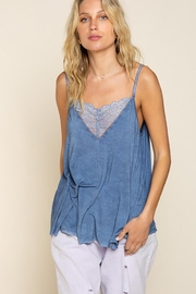 Pol clothing V-Camisole Tank With Front Lace Detail - Product Mini Image