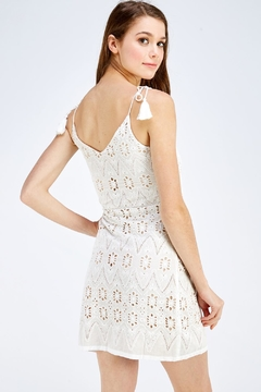 Polagram Crochet Mini Dress - Alternate List Image