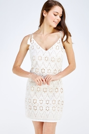 Polagram Crochet Mini Dress - Product Mini Image