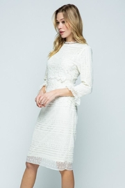 Polagram Ivory Classy Lace Midi - Side cropped